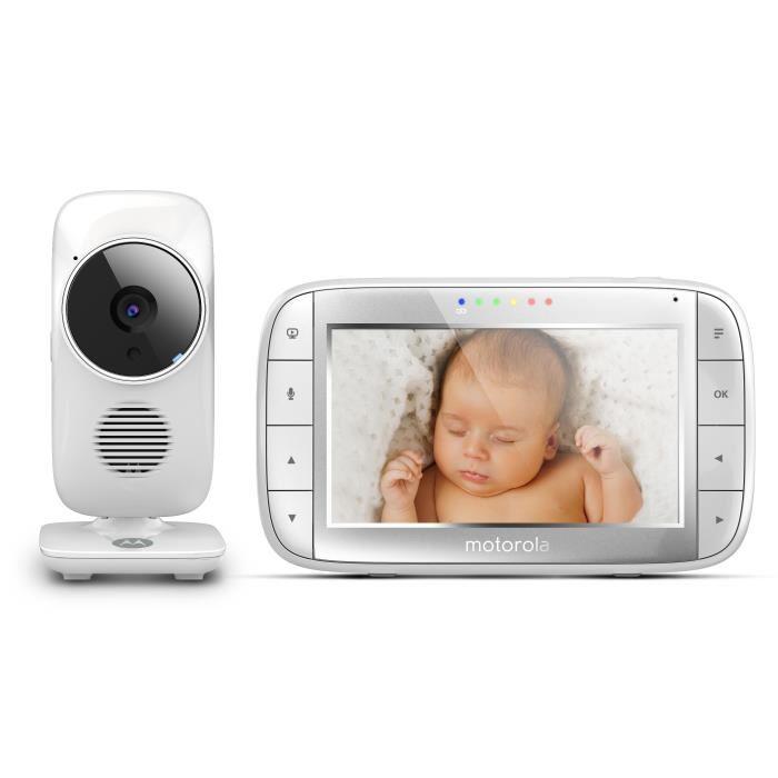 "Babyphone vidéo Motorola MBP48 - avec moniteur LCD 5"""