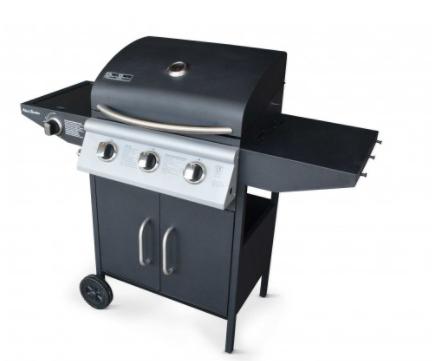 Barbecue au gaz 3 brûleurs + feu latéral avec thermomètre Athos