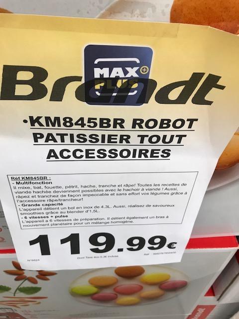 Robot Pâtissier Brandt KM845BR - Max Plus Saint-Alban (31)