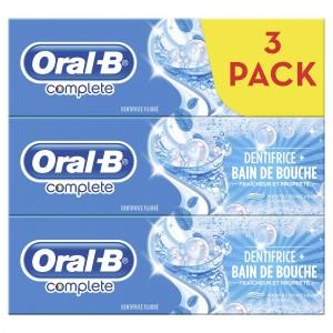 Lot de 3 Tubes de Dentifrice Oral-B (Via BDR de 1,60€)