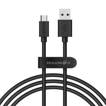 Câble USB / microUSB BlitzWolf BW-CB7 - 1 m, noir