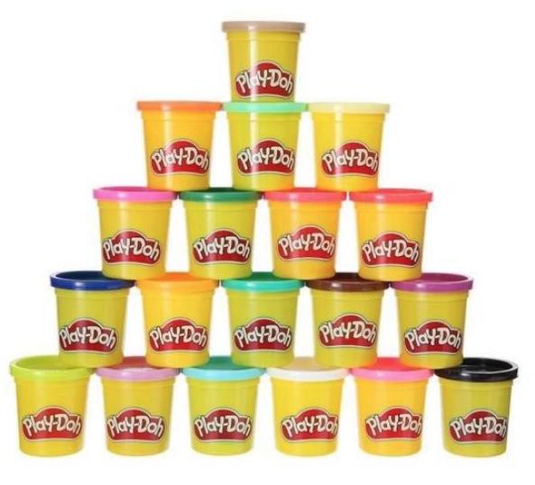 Super Pack Coloré 20 Pots Play-Doh