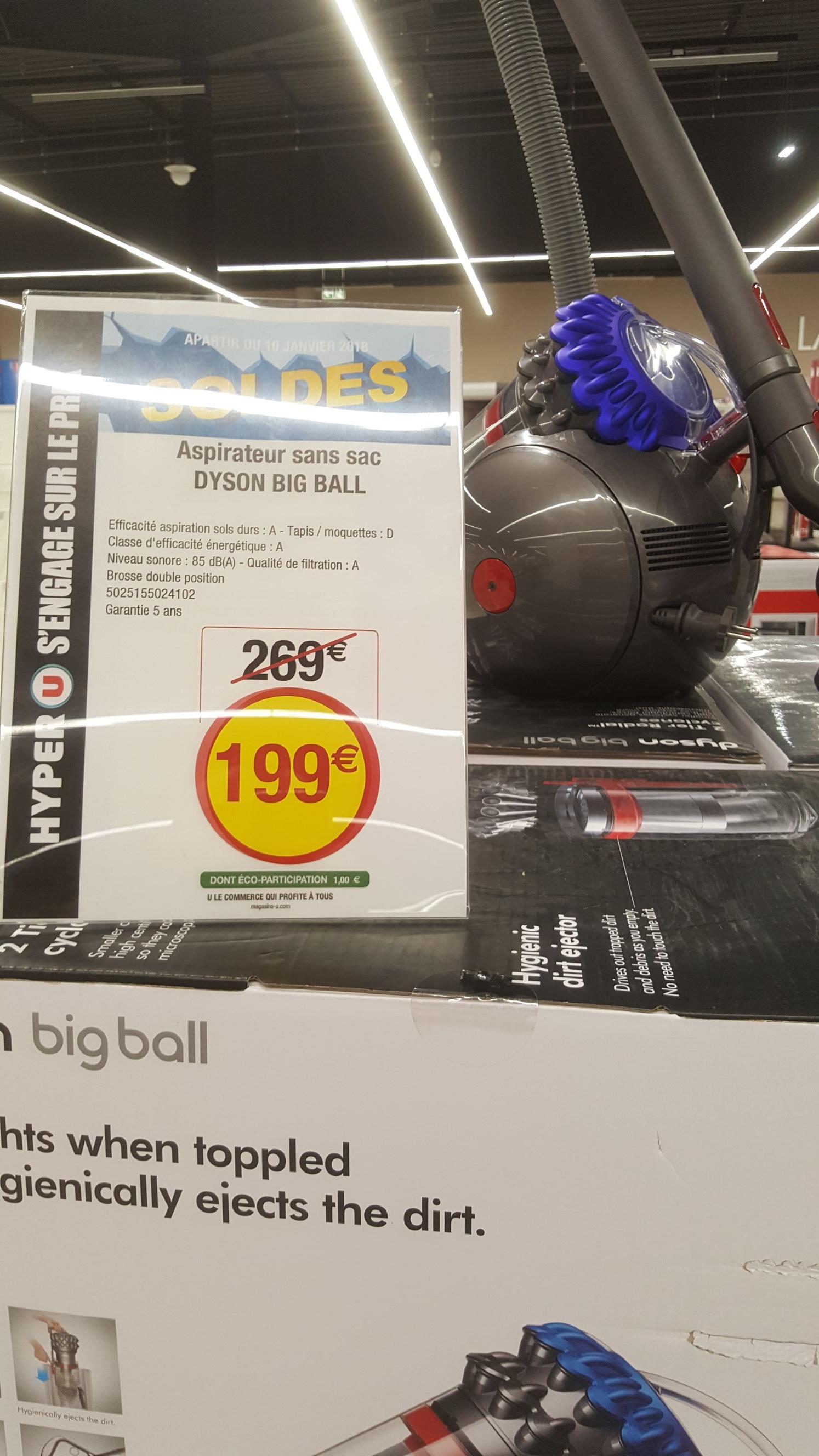 Aspirateur Dyson Big Ball - Hyper U Reims village (51)