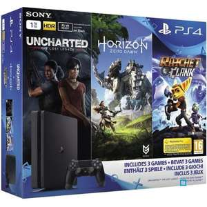 Pack Console SOny PlayStation 4 Slim 1To - Chassis E + Horizon Zero Dawn + Uncharted : The Lost Legacy + Ratchet & Clank + Qui es-tu