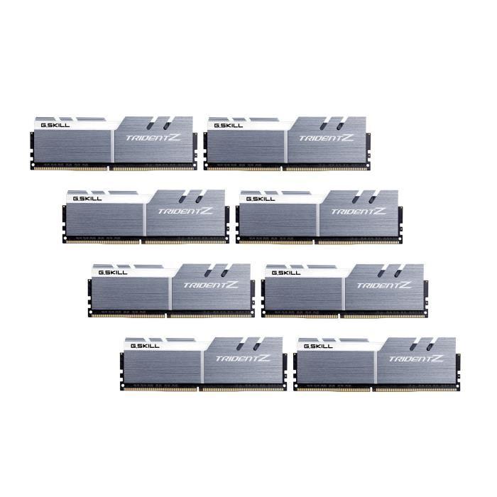 Kit mémoire Ram DDR4 GSkill Tridentz 64 Go (8x8 Go) - 3600 MHz, cl16