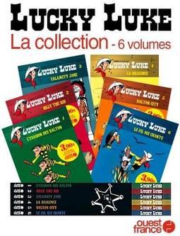 La Collection Lucky Luke en Bandes Dessinées - 6 Volumes