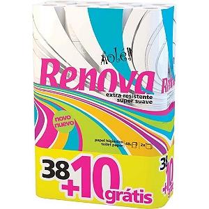 Lot de 48 rouleaux de papier toilette Renova Olé