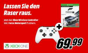 Manette sans fil Microsoft Xbox One + Forza Motorsport 7 (Frontaliers Allemagne)