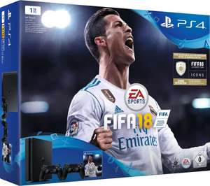 Pack console Sony PS4 Slim (Noir) - 1 To + 2ème Manette + FIFA 18