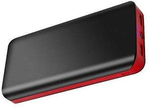 Batterie Externe Fkant Powerbank avec Double Port USB et Flashlight - 25000mAh (Vendeur Tiers)