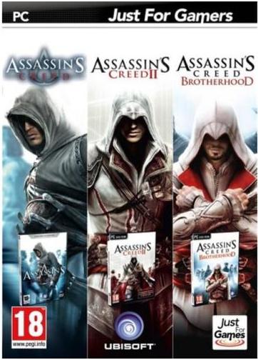 Triple Pack Assassin's Creed sur PC, version Boîte (Contient AC 1, 2 et Brotherhood)