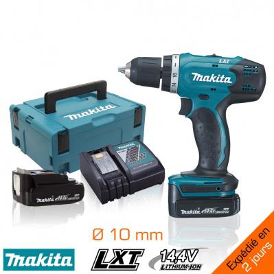 Perceuse-visseuse Makita LXT 14,4V - 2 bat. Li-ion 1,3Ah - Ø10 mm + Coffret Makpac II