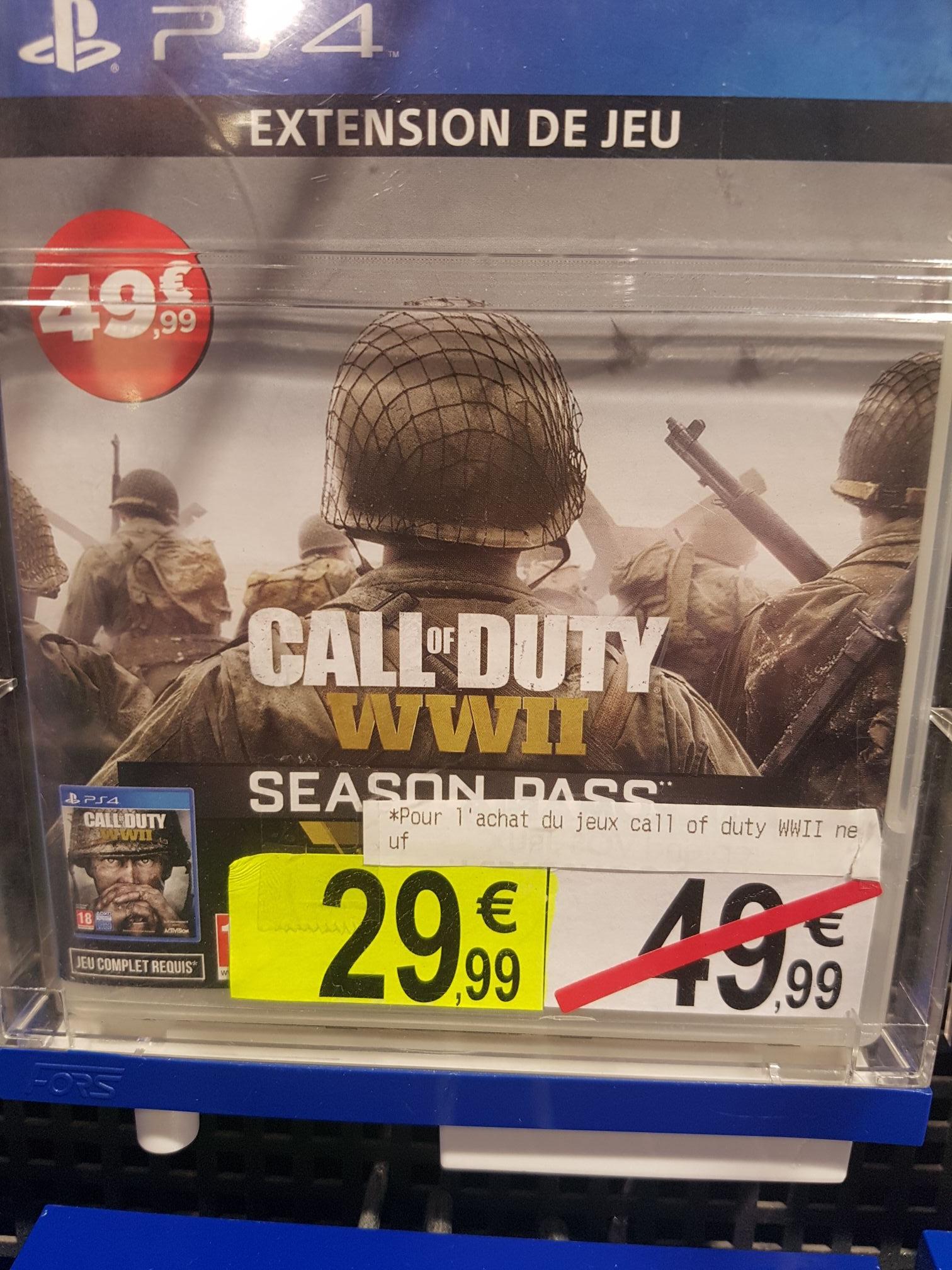 Season Pass pour Call of Duty: WWII sur PS4 pour l'achat du Jeu Neuf - La Riche (37)