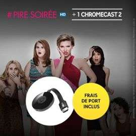 Clé HDMI Chromecast 2 + Film # Pire soirée en Location VOD 48h