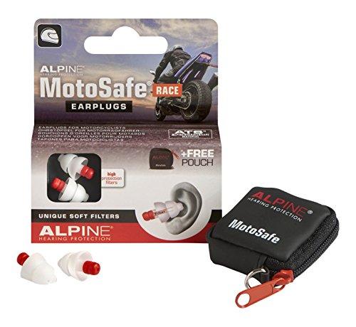 Bouchons d'oreilles pour motocyclistes Alpine Motosafe Race
