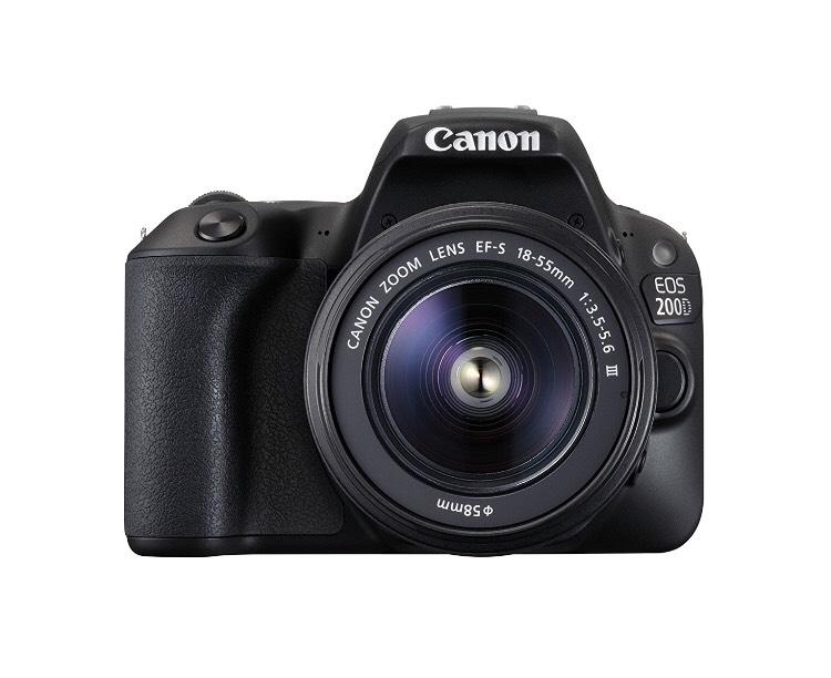 Appareil photo numérique Canon 200D BK 18-55 EU26  - 25.8 Mpix Zoom optique 10 x Bluetooth/NFC/Wi-Fi Noir