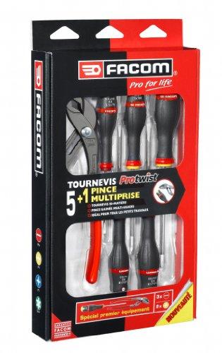 Coffret d'outils Facom AS5.170PG - 1 pince multiprise + lot de 5 tournevis