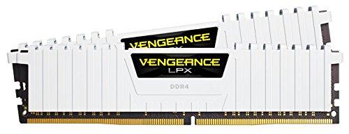 Kit Mémoire Corsair CMK16GX4M2B3000C15W Vengeance LPX Blanc 16Go (2x8Gp) - DDR4, 3000MHz, C15, XMP 2.0