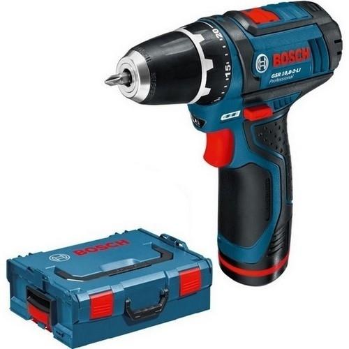 Perceuse Visseuse Bosch GSR10,8-2-LI  - 10,8V - 2 Batteries 2ah - Coffret L-boxx 0601868109