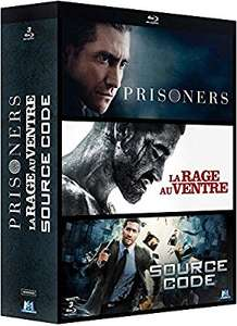 Coffret blu-ray Jake Gyllenhaal : Prisoners + La rage au ventre + Source Code (3 films)