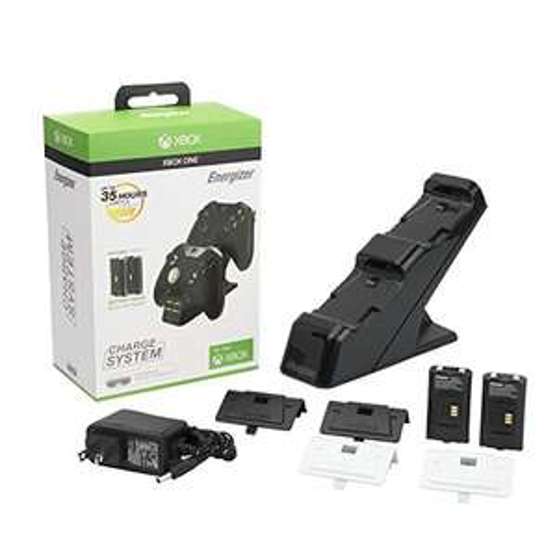 Energizer Chargeur de manettes 2 x avec batterie rechargeable sans fil pour Xbox One
