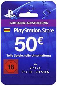 Carte Playstation Store 50€ (Compte Allemand)