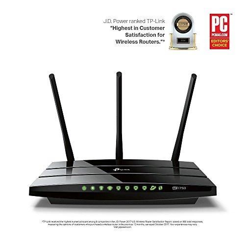 Routeur TP-Link 1750 Mbps Wi-Fi Gigabit Bi-Bande: 450 Mbps en 2.4 GHz, 1350 Mbps en 5 GHz, 5 ports Ethernet Gigabit, 1 port USB 2.0 (Archer C7)