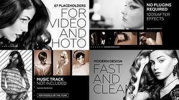 Introduction Black Fashion Promo Gratuit pour Adobe After Effect CS5+