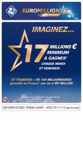 Grille de tirage simple Euro Millions (via FidMe ou Shopmium)