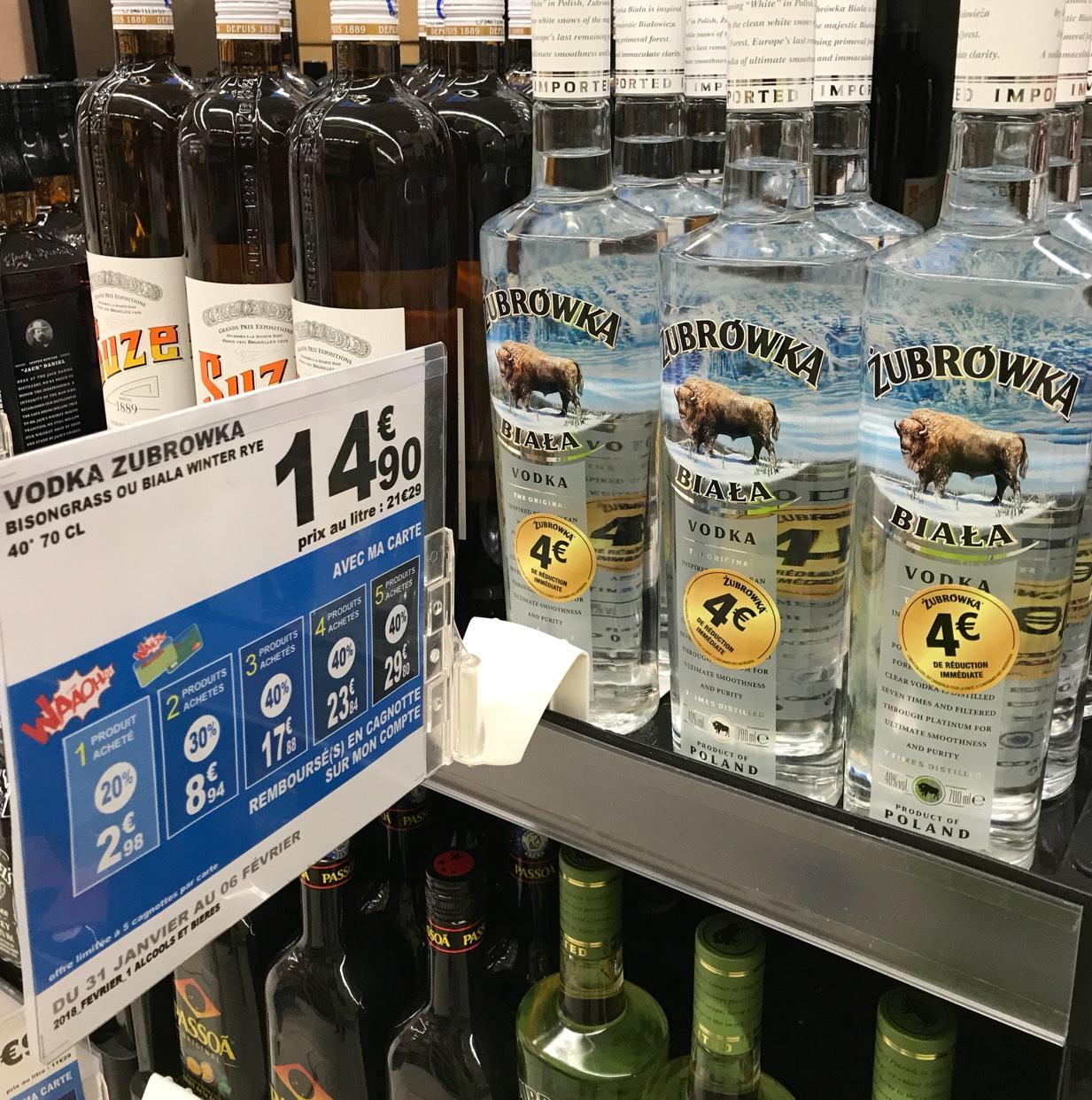 Bouteille de Vodka Zubrowka - Dieppe (76) / Orléans (45)