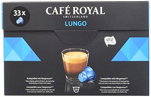 [Prime] 20% de réduction sur une sélection de boîte de Café Royal Compatible Nespresso - Ex : Café Royal Lungo - 33 Capsules Compatibles avec le Système Nespresso