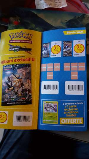 Sélection d'articles Pokemon en promotion via vignettes - Ex : Booster Pokemon Ultraprisme (via 4 vignettes)
