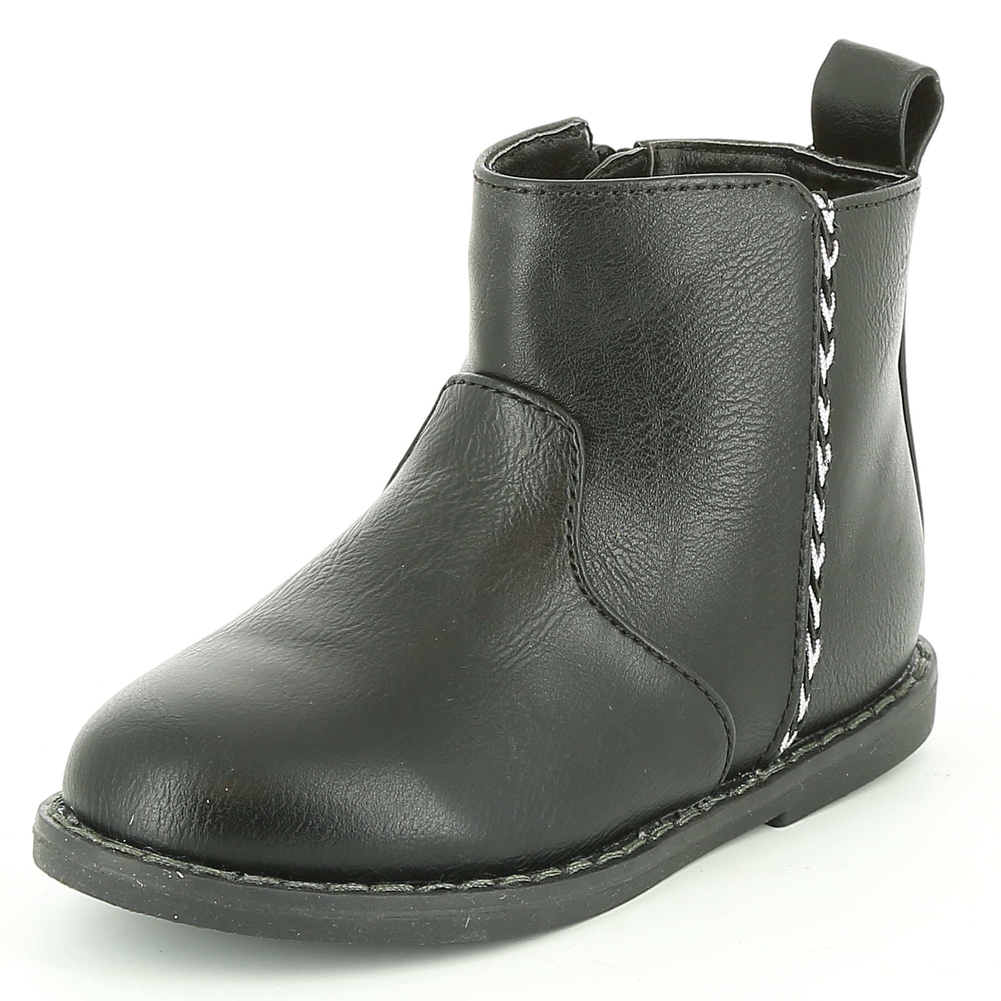 Boots en simili - Noir