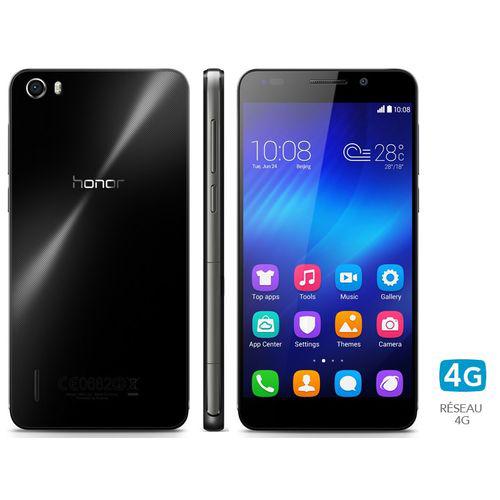 """Smartphone 5"""" Honor 6 noir ou blanc (4G, Octacore, 3 Go Ram, 16 Go Rom) (avec ODR 50€)"""