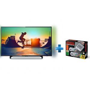 "TV 50"" Philips 50PUS6262 - LED, 4K UHD, HDR, Smart TV, Ambilight 2 côtés + Console Nintendo Classic Mini Super NES"