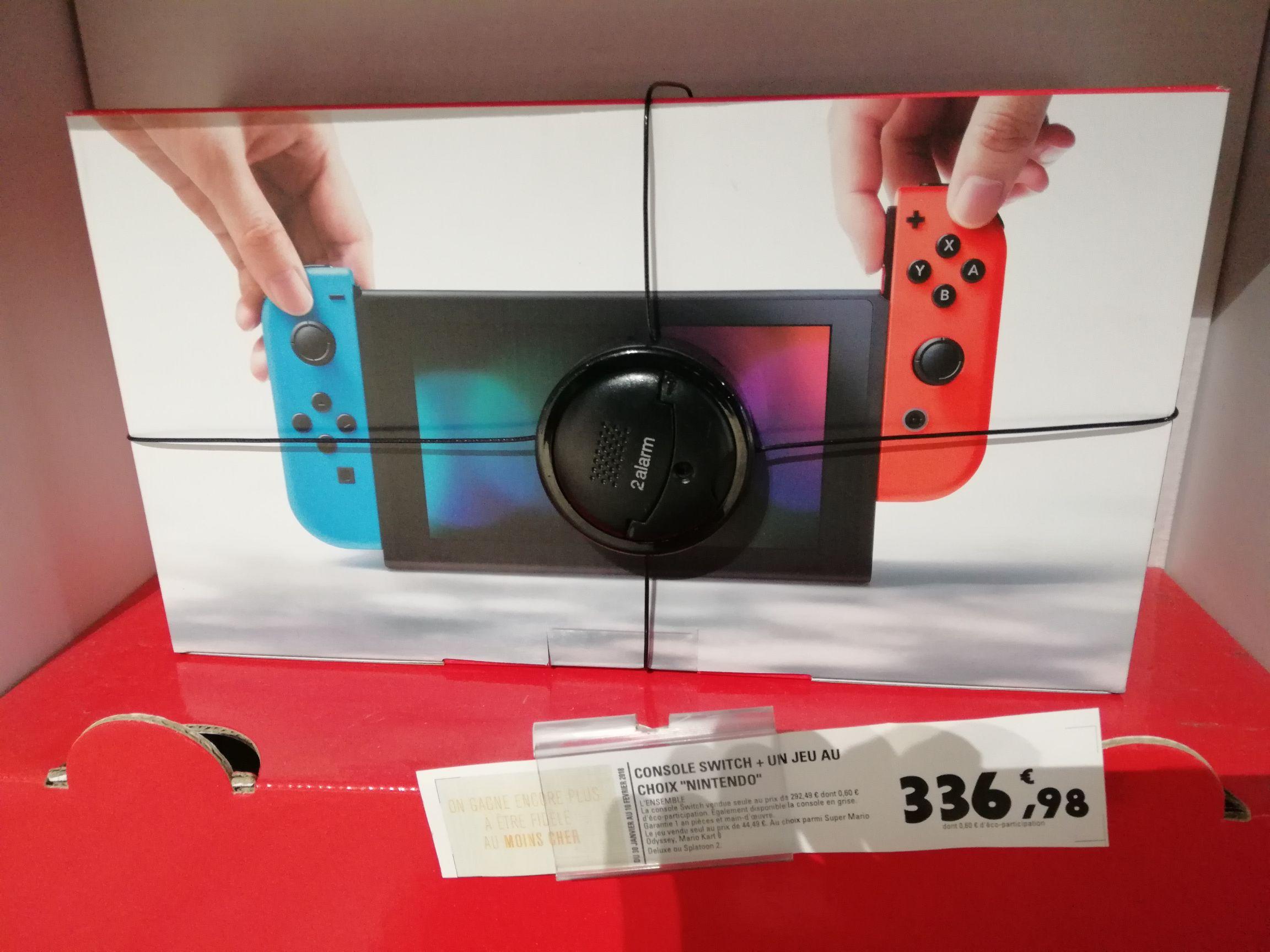 Console Nintendo Switch (avec Joy-Con - bleu / rouge) + un jeu au choix au E.Leclerc Blagnac (31)