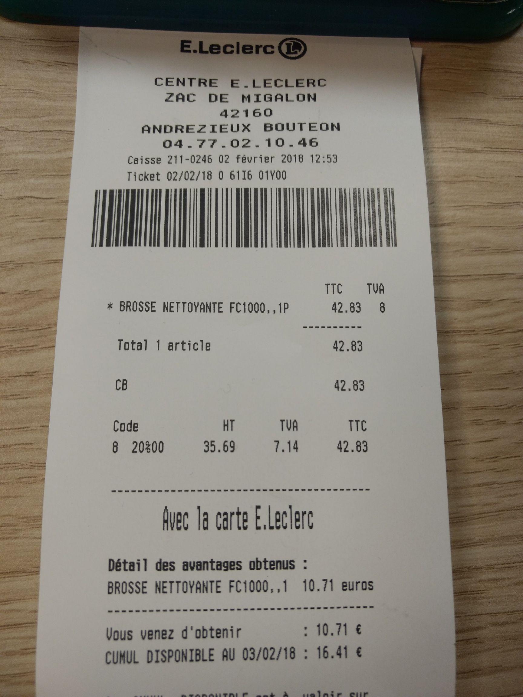 Brosse nettoyante visage Remington FC1000 Reveal (via 10.71€ sur la carte de fidélité) au E.Leclerc Andrézieux-Bouthéon (42)