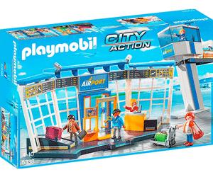 Jouet Playmobil Aéroport avec tour de contrôle (5338)