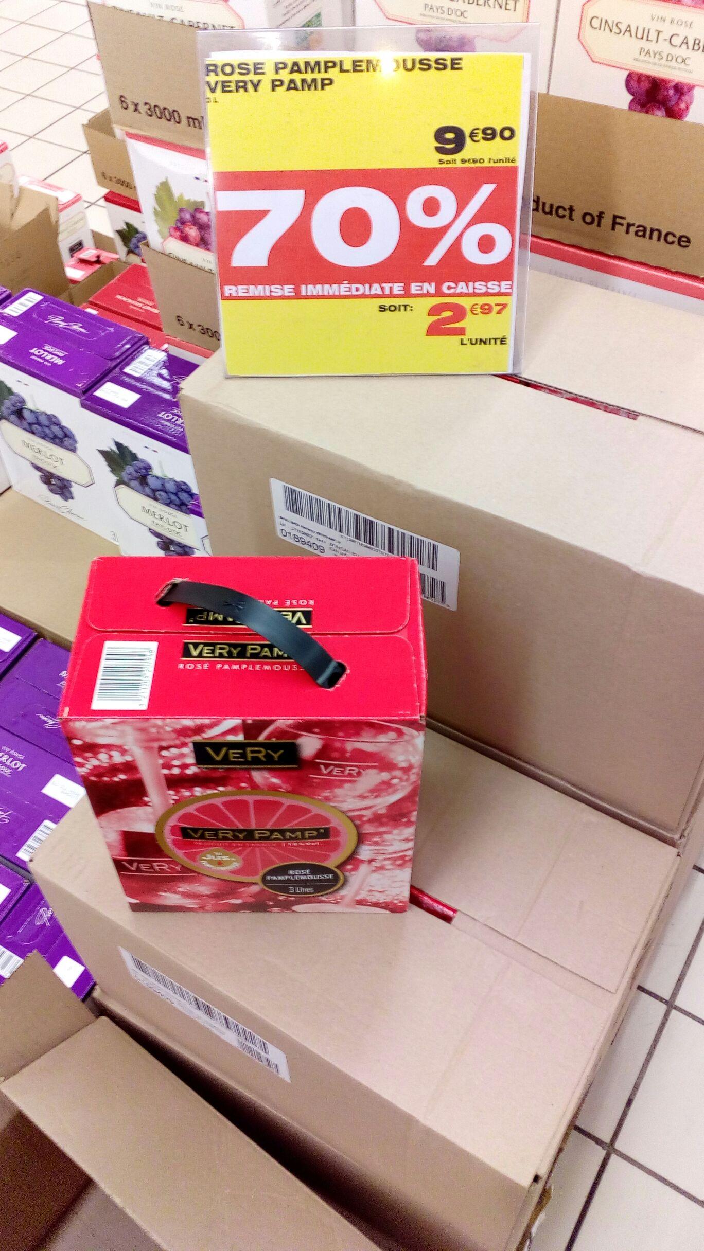 Cubis de rose-pamplemousse Very Pamp' - 3 L au Auchan Roncq (59)