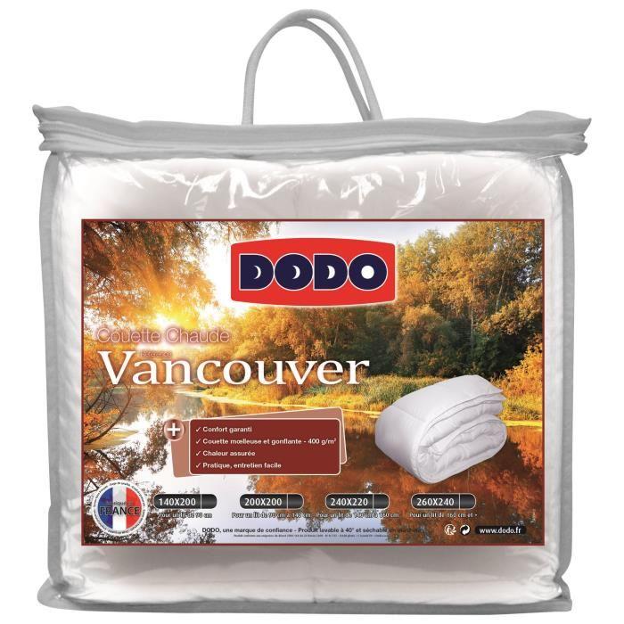 Couette Dodo Vancouver - 400gr/m², 220x240 cm, blanc