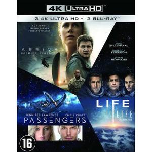 Coffret Blu-ray 4K UHD + Numérique : Arrival + Life + Passengers (vendeur tiers)