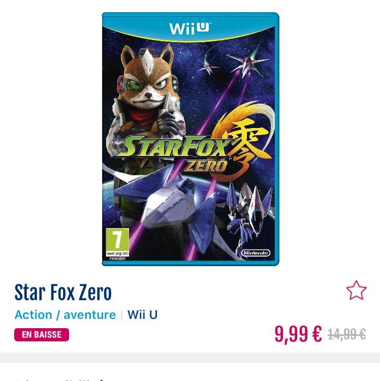 Star Fox Zero sur Wii U (via application)