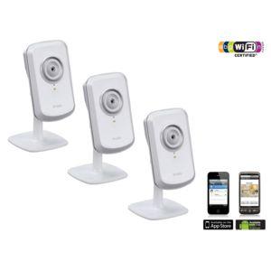 3 Caméras IP Wi-Fi Dlink - DCS-930L