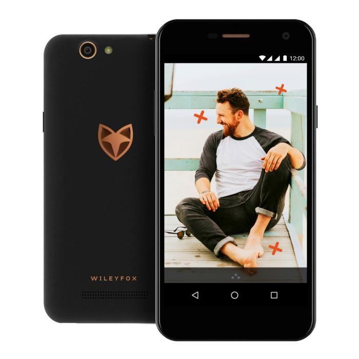 "Smartphone 5"" Wileyfox Spark - HD, 1Go RAM, 8Go ROM, 4G (avec B20), Android 7 + Garantie casse écran de 12 mois offerte"