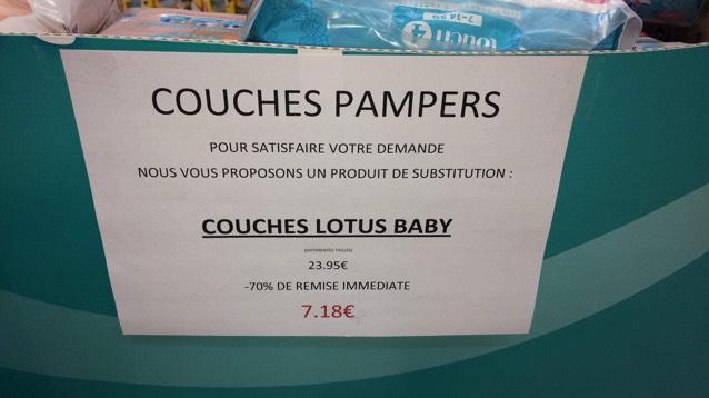 Paquet de Couches Lotus - Intermarché Verneuil-sur-Avre (27)