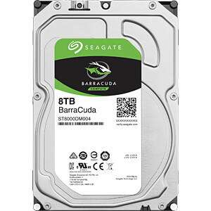 "Disque dur interne 3.5"" Seagate Barracuda 8 To - SATA 6.0Gb/s, 7200 trs/min"