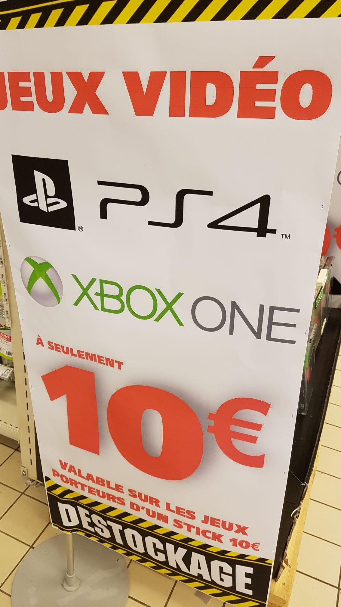 Sélection de jeux-vidéo sur PS4 et Xbox One - Avignon Sud (84)