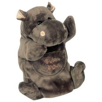Marionnette hippopotame Histoire d'Ours - 25 cm