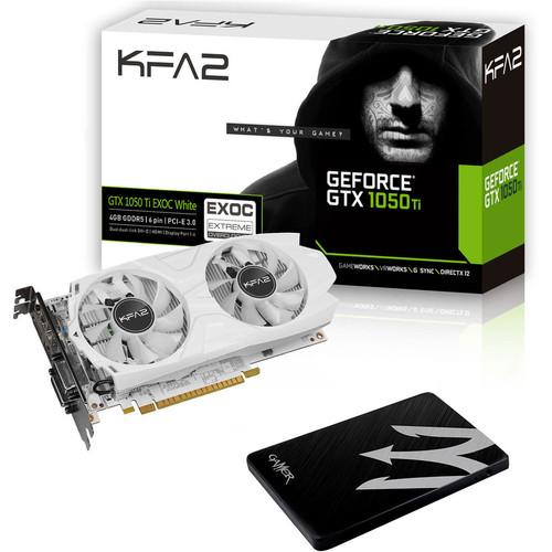 Disque SSD KFA2 Gamer SSD L 120 Go + Carte graphique KFA2 Geforce GTX 1050 Ti EXOC White