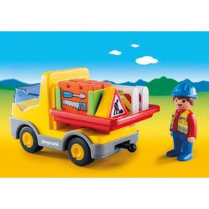 Set Playmobil 1.2.3: Camion benne (6960)